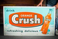 Original 1950's Orange Crush Tin Sign -Nice - !!