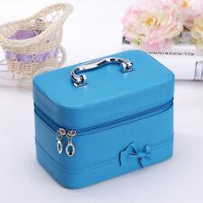 Kosmetikkoffer Schminkkoffer Beauty Case Hartschale Schmuckkoffer Koffer Blau