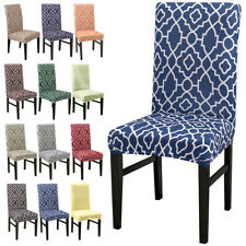 Pattern Chair Covers Spandex Dining Room Stretch Seat Protective Case Restaurant