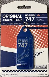AVIATIONTAG : BRITISH AIRWAYS : BOEING 747-436 (G-CIVE) - FULL BLUE TAG