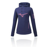 Mizuno Womens Heritage Hoodie Purple Sports Gym Hooded Breathable Lightweight