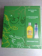 L'OCCITANE ALMOND Indulgent Duo -  Brand New - Boxed -  Shower Oil & Hand Cream