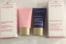 Clarins Multi-Active Lot DAY Spf20 + NIGHT Cream New In Box 15ml 0.5oz Each