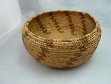 """Native American Weave Basket Bowl. Very Nice Design. Approx 4"""" T & 9.25"""" D"""
