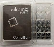 1 gram Palladium Bar - Valcambi- 999.5 Fine