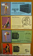 PIN-UP GIRLS 1940s CLEVELAND SWITCHBOARD COMPANY Earl Moran Drawings WWII RARE!!