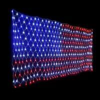 LED US Flag Net Lights American Flag Light Festival In/Outdoor Decoration