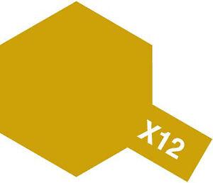 Tamiya Acrylic Mini X-12 Gold Leaf 10mL Paint 81512