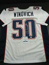 Chase Winovich New England Patriots Autographed Custom Style Jersey Coa Beckett*