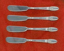 1847 Rogers Bros 1937 FIRST LOVE 4 Individual Butter Spreaders Nice No Monograms