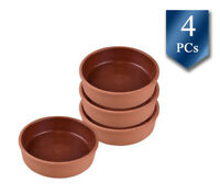 Cooking Clay Pot Double Size, Ancient Cookware Clay Pan, Terracotta Pot Set of 4