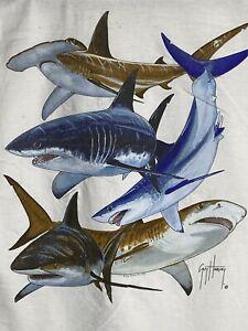 Guy Harvey AFTCO Vintage '04 Sharks Mens T-shirt Large Short Sleeve