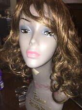 """Auburn Highlighted 18"""" Synthetic Curly Wig"""