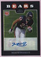 MATT FORTE RC 2008 TOPPS CHROME ROOKIE AUTO #TC191 BEARS AUTOGRAPH