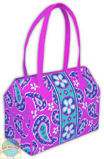 Plastic Canvas Kit ~  Design Works Bright Paisley Floral Tote Bag #DW2214
