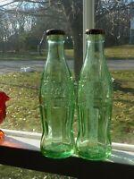 Coca-Cola 6-1/2 Oz (2) Green Bottle No.10 CONN. NH Hobble Skirt Cork Seal (M0 C)