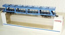Märklin 4233 Autotransportwagen DDm 915 ohne PKW H0 OVP mit PKW Halterungen