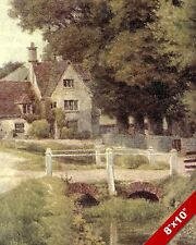 BABY THAMES ENGLAND ENGLISH COUNTRYSIDE LANDSCAPE ART PAINTING REAL CANVAS PRINT