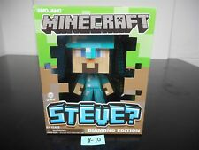 BRAND NEW! MINECRAFT STEVE? DIAMOND EDITION JINX MOJANG FIGURE DAMAGED BOX! X-10