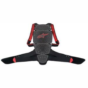 Alpinestars Nucleon KR-Cell Smoke / Black / Red Moto Back Protector | All Sizes
