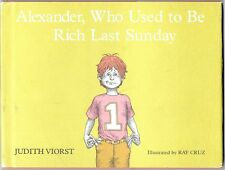 Vintage Children's Book & Dust Jacket ALEXANDER WHO USED TO BE RICH LAST SUNDAY