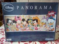 Clementoni Panorama 1000 Disney Jigsaw Puzzle Mickey Minnie Donald Sealed Rare