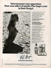 ▬► PUBLICITE ADVERTISING Pier Augé Base DERGYL crème 1978