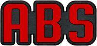 Rotes Auto KFZ Relief Emblem 3D Schild ABS selbstklebend 7 cm HR 14939