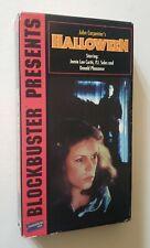 Halloween VHS 1987 Blockbuster Presents Horror Slasher John Carpenter HTF