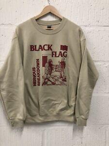 Black Flag Nervous Breakdown Sweatshirt Size M Never Worn Raymond Pettibon Punk