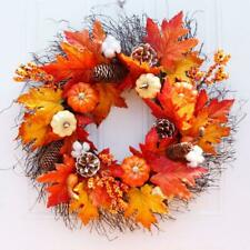 Halloween Thanksgiving Door Wreath Garland Berries Pine Harvest Home Decor