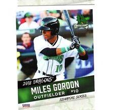 Miles Gordon 2018 Dayton Dragons team set card Oakville Ontario Canada