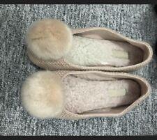 Ladies Ugg Pompom Slippers Size 4.5