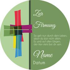 Tortenaufleger Firmung2 grün mit Wunschtext / 20 cm Ø