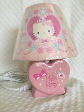 New Rare Hello Kitty Princess Lamp light pink heart Sanrio