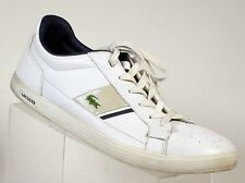 Lacoste Europa ET SPM Leather Men's Shoes White/Black/GREY CROC Euro sneakers