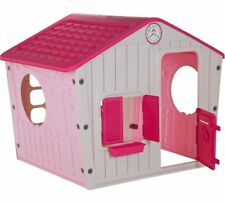 New Kids Playhouse Outdoor Indoor Wendy Houses Foldable Pink Play House Toys