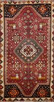 Tribal Semi Antique Geometric Gabbeh Traditional Hand-knotted Wool Area Rug 4x6