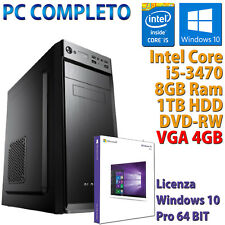 PC COMPUTER DESKTOP GAMING INTEL CORE i5-3470 RAM 8GB HDD 1TB DVD-RW RX 550 4GB