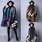 Ladies Womens Fashion Knitted Cape Blanket Winter Wrap Poncho