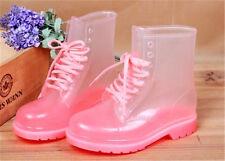 Fashion Transparent Women Boots Anti-Slip Waterproof Galoshes Jelly Rain Shoes
