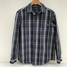 Sean John Black, White & Grey Checked Shirt, Mens Size S, Original Fit