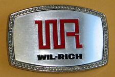 Wil-Rich Farm Machinery Belt Buckle Wahpeton North Dakota u