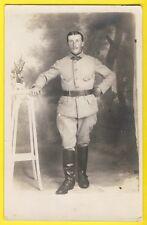 cpa Carte Photo MILITAIRE SOLDAT en Uniforme du 111e Régiment botte cavalier