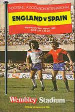 England v Spain - 25/3/1981 - Football Programme
