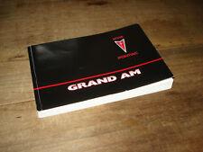 2002 Pontiac Grand AM GT SE  4cyl V6 Owners Manual 02