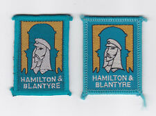 SCOUTS OF SCOTLAND - SCOTTISH LANARKSHIRE HAMILTON & BLANTYRE SCOUT PATCH (2 VA)