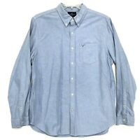 American Eagle SLIM FIT Shirt Mens Size XL Blue Long Sleeve Button Up Front