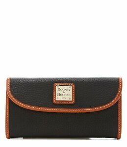 NEW! Dooney & Bourke Continental Pebble Grain Clutch/Wallet-Black ZR507