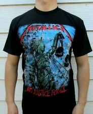 METALLICA AND JUSTICE FOR ALL METAL ROCK MEN's T SHIRT SIZES